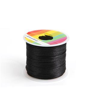 10m Black Satin Cord, 1mm