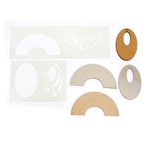 Designed by Gemma Crow Aztec Templates with Round & Sheild Blanks