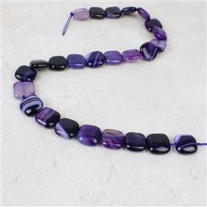 320cts Purple Stripe Agate Puffy Squares Approx 16mm, 38cm