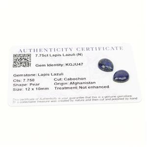 7.75cts Sar-i-Sang Lapis Lazuli 12x10mm Pear  (N)
