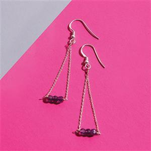 925 Sterling Silver Trapeze Earrings Kit With Amethyst Rondelles (1pair)