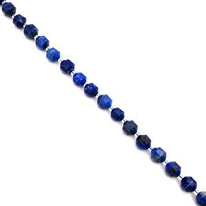 210cts Lapis Lazuli Fancy Faceted Beads Approx 10x9mm, 38cm