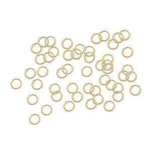 Gold Plated 925 Sterling Silver Open Jump Ring - 6mm (Approx 50pcs)
