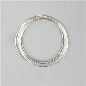 3m Silver Plated Copper Square Wire Approx 0.50mm
