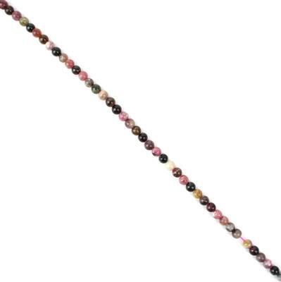 100cts Multi-Colour Tourmaline Plain Rounds Approx 6mm 38 cm strand