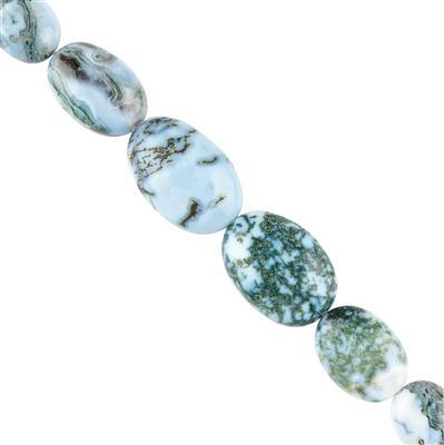 75cts Opal with Chalcedony Graduated Plain Ovals Approx 12x10 to 19x13mm, 8cm Strand.