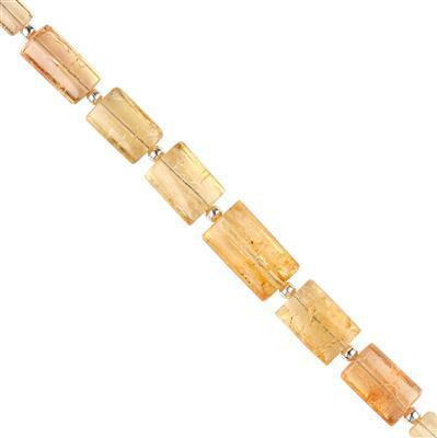 20cts Imperial Topaz Graduated Plain Barrels Approx 6x4 to 11x8mm, 6cm Strand.