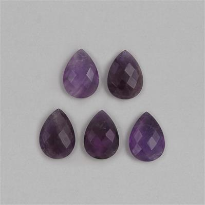 78cts Amethyst Faceted Pear Shaped Cabochons Approx 24x17mm.