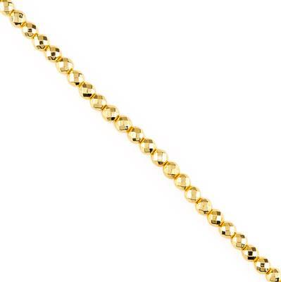 130cts Gold Colour Coated Haematite Faceted Rounds Approx 6mm, 28cm Strand.
