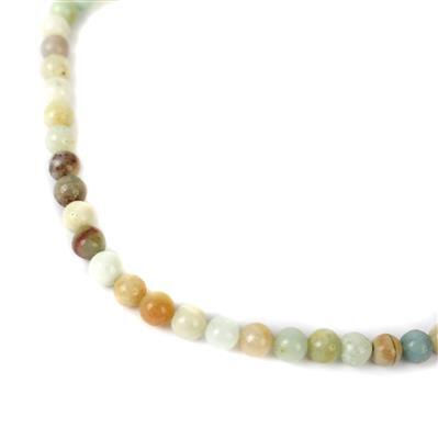 95cts Multi-Colour Amazonite Plain Rounds Approx 6mm, 38cm strand