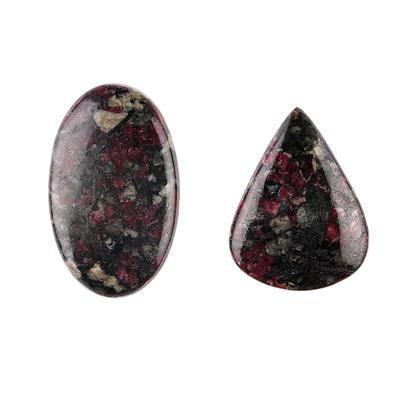 90cts Eudialyte Multi Shape Cabochons Assortment.