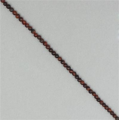 5cts Red Tigers Eye Plain Rounds Approx 2mm