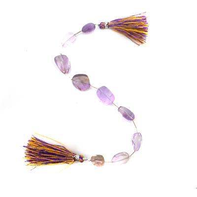 85cts Amethyst & Ametrine Graduated Plain Nuggets Approx 10x7 To 16x11mm, 20cm Strand.