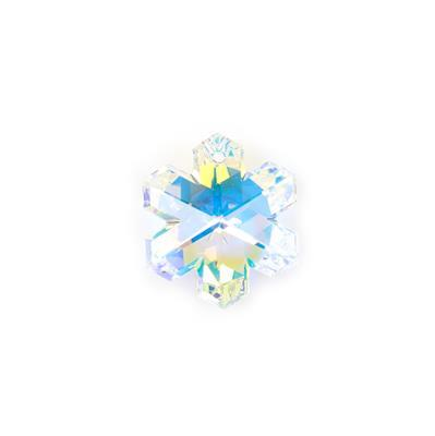 Swarovski Snowflake Pendant, Crystal AB, 30mm, 1 pk