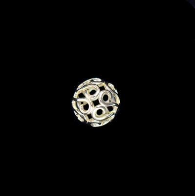 Gold Plated 925 Sterling Silver Filigree Ball Pendant Approx 15mm 1pc