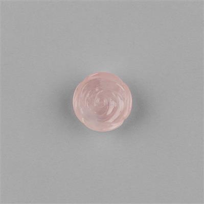 21cts Rose Quartz Carved Rose 20x20mm.