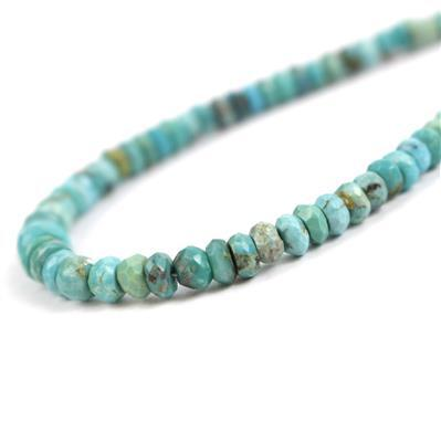 66ct Cochise Turquoise Sterling Silver Necklace Approx 45cm with a 5cm Extender