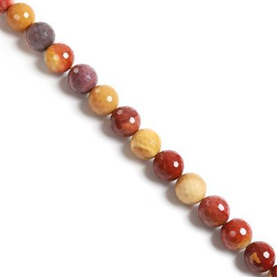 640cts Mookaite Faceted Rounds Approx 16mm, 38cm strand