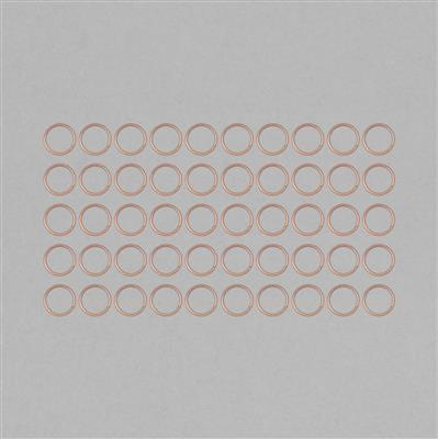 Bare Copper Hollow Open Jump Rings - 24mm & Thickness 2mm (50pcs/pk)