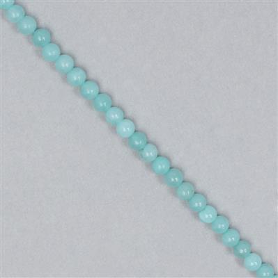 45cts Aqua Blue Quartzite Rounds Approx 4mm