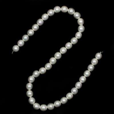 White Shell Pearls Plain Rounds Approx 10mm