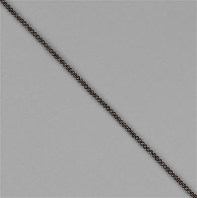 8cts Smokey Quartz Micro Faceted Rondelles Approx 2x1mm, 30cm Strand.