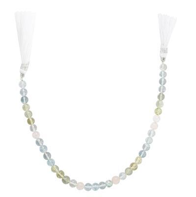 50cts Multi-Colour Beryl Graduated Plain Rounds Approx From 5 to 6mm, 20cm Strand.