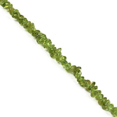 80cts Peridot Small Nuggets Approx 4x5 to 8x5mm, 38cm Strand