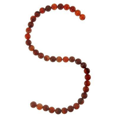 250cts Red Agate Faceted Rounds Approx 10mm