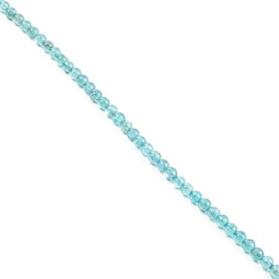 40cts Apatite Plain Rounds Approx 4mm 38cm strand