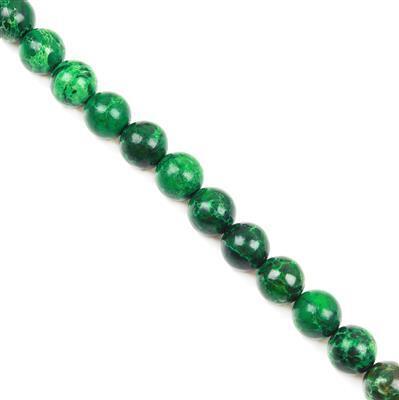 280cts Malachite Green Variscite Plain Rounds Approx 12mm 38cm
