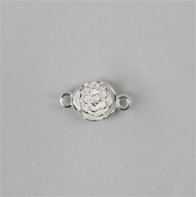 925 Sterling Silver Magnetic Flower Clasp Approx 10mm (1Pcs)
