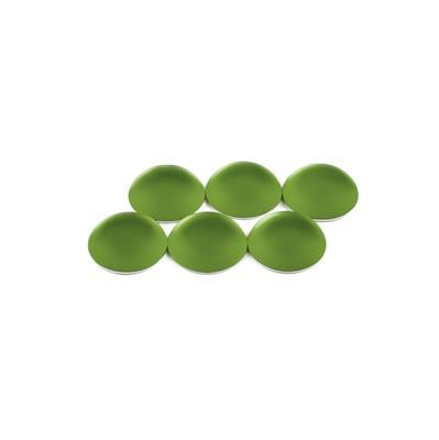 Olive Luna Round Cabochons Approx 14mm (6pcs)