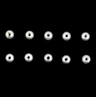 925 Sterling Silver Brush Round Beads - 6mm (10pcs/pk)