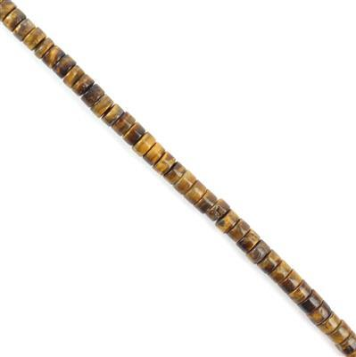 50cts Tigers Eye Wheels Approx 2x4mm, Approx 38cm strand