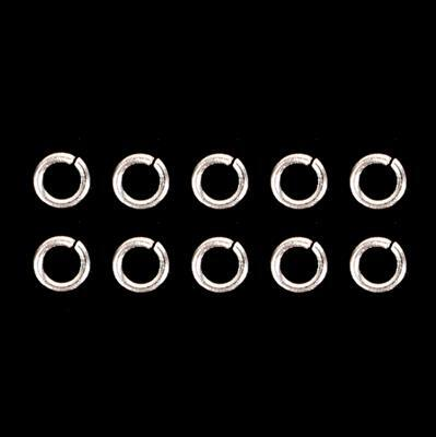 925 Sterling Silver Open Light Gauge Jump Rings - 3mm (10pcs/pk)