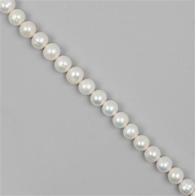 White Freshwater Cultured Potato Pearls Approx 10 x 11mm