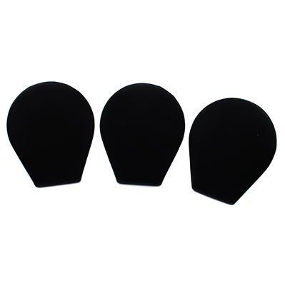 Black Leatherette Small Earring Display (3pk)