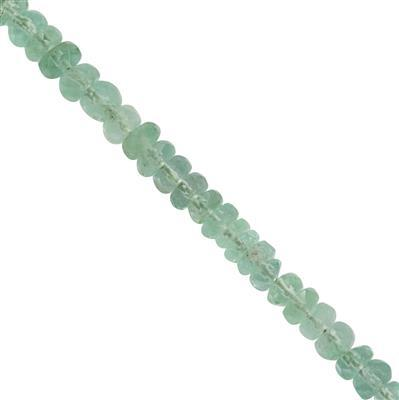 10cts Colombian Emerald Graduated Faceted Rondelles Approx 1x1 to 2x1mm, 20cm Strand