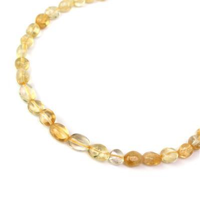 90cts Citrine Nuggets Approx from 5x7 to 7x9mm, 38cm strand