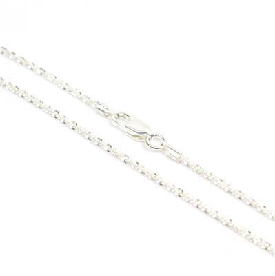 925 Sterling Silver 025 Tocalle Chain with 1.5mm Link, 51cm/20