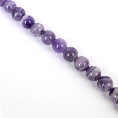 360cts Sage Amethyst Plain Rounds Approx 12mm, Approx 38cm/strand