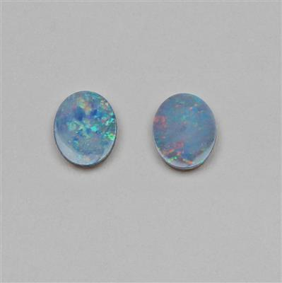 2.30cts Doublet Boulder Opal Oval Cabochons Approx 9x7mm.