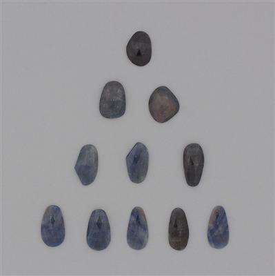 115cts Blue Sapphire Faceted Fancy Shapes.