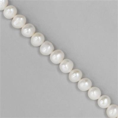 White Medium Freshwater Cultured Pearl Nuggets Approx from 8x6 to 12x6