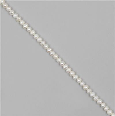 White Freshwater Cultured Potato Pearls Approx 4-5mm