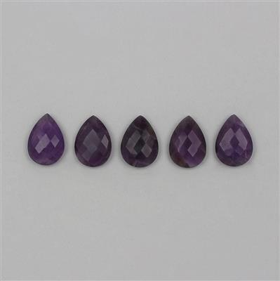 80cts Amethyst Briolette Cut Pear Cabochons Approx 25x18mm.
