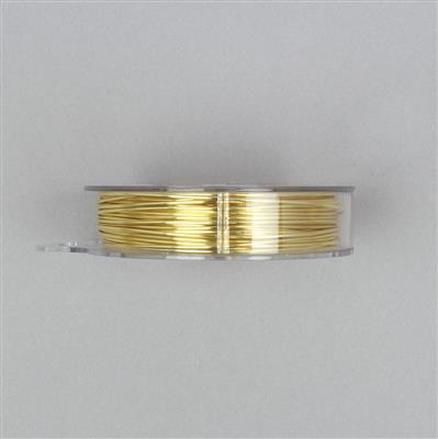 10m Gold Coloured Plated Copper Wire 1.00mm