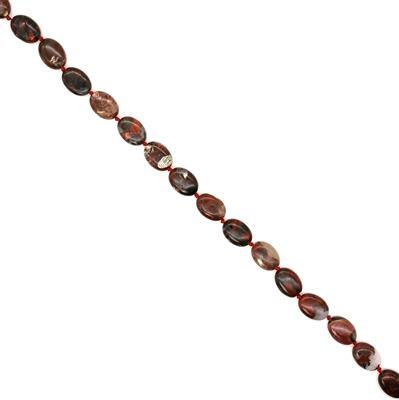 230cts Poppy Jasper Puffy Ovals, Approx 13x18mm, 38cm strand