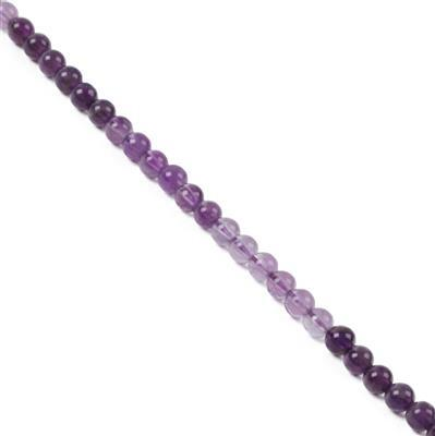40cts Bi-Colour Amethyst Plain Rounds Approx 4mm 38cm strand